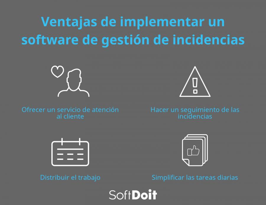 ¿Qué ventajas aporta el uso de una herramienta para gestionar incidencias?